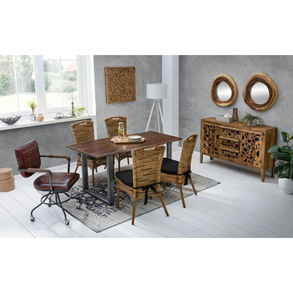 SIT Spiegel »Romanteaka«, aus recyceltem Altholz Teak, Shabby Chic, Vintage