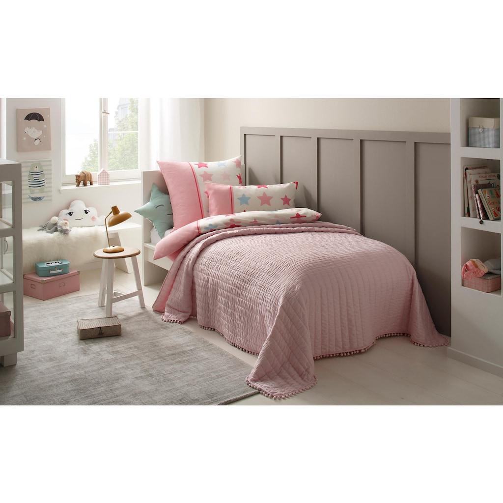 Lüttenhütt Kinderbettwäsche »Tilly«, mit breitem Streifen und Sternen