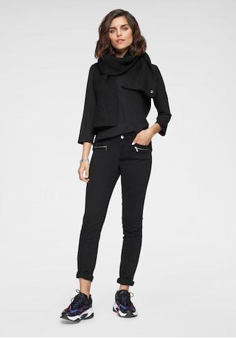 Tamaris Röhrenhose, mit Galonstreifen und Zipperdetails kaufen