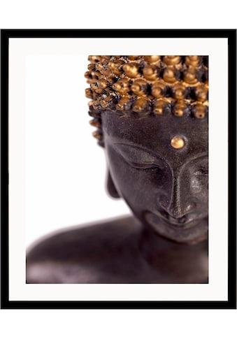 G&C Kunstdruck »Buddha«, front, 43/53 cm, gerahmt kaufen