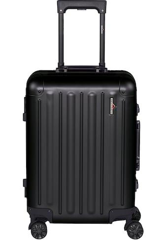 Hardware Hartschalen-Trolley »PROFILE PLUS ALU S, black«, 4 Rollen kaufen
