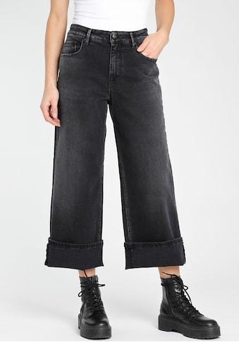 """GANG Weite Jeans »""""CARLOTTA CULOTTE""""«, mit besonders weiten Bein u. breiten Umschlag... kaufen"""