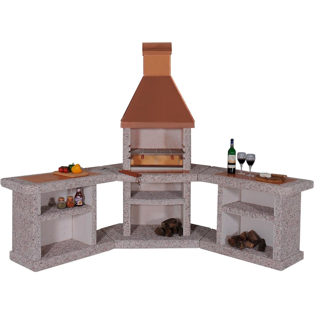 WELLFIRE Grillkamin »Außenküche Toskana«, BxTxH: 188x73x19 cm