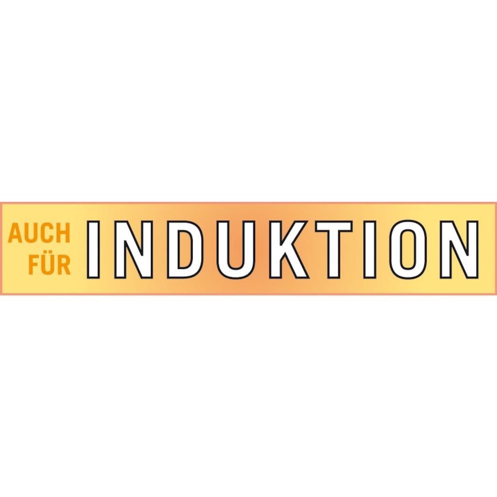 GSW Bräter »Ceramica kobatblau«, Aluminiumguss, (1 tlg.), Induktion, Gratis 1x Fleischgabel + 1x Backpinsel-Set, 2tlg