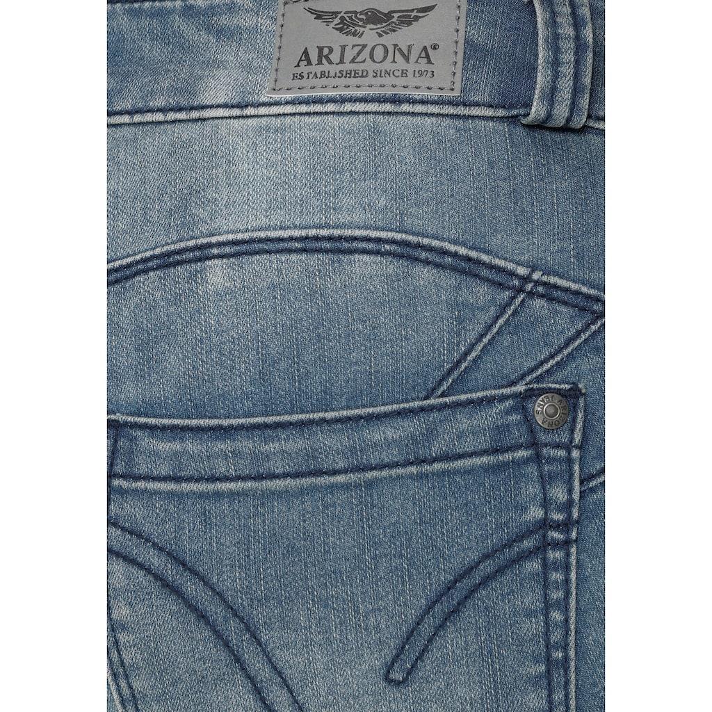Arizona Jeansbermudas »Shaping«, Mid Waist