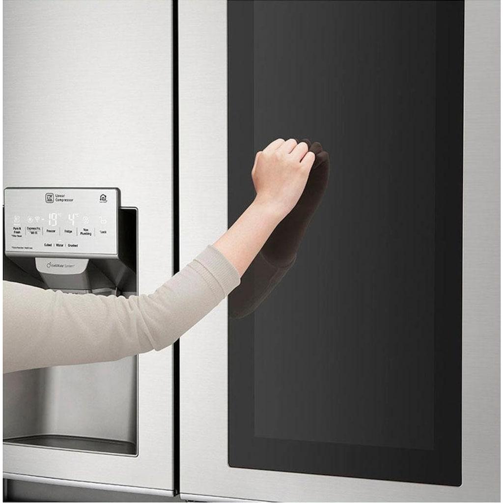 LG Side-by-Side »GSX961NEVZ«, 9, GSX961NEVZ, 179 cm hoch, 91,2 cm breit, Door-in-Door