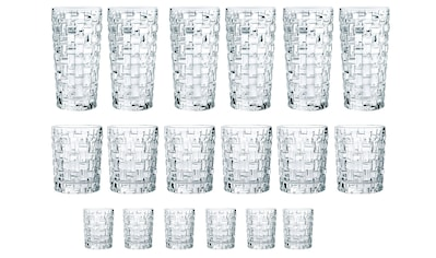 Nachtmann Gläser-Set »Bossa Nova«, (Set, 18 tlg., 6 Longdrink, 6 Tumbler, 6... kaufen