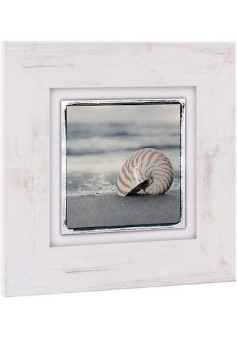 Home affaire Holzbild »Schneckenhaus auf Sand«, 40/40 cm kaufen