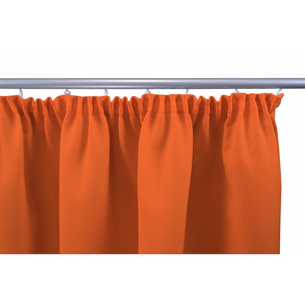VHG Vorhang nach Maß »Gerti«, Leinenoptik, Uni, Deko, Breite 150 cm
