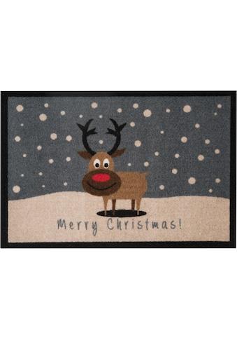 Fußmatte, »ChristmasReindeer«, HANSE Home, rechteckig, Höhe 7 mm, maschinell getuftet kaufen