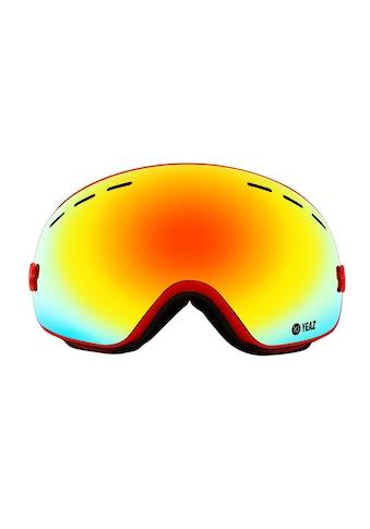 YEAZ Skibrille »XTRM-SUMMIT«, mit Rahmen rot kaufen