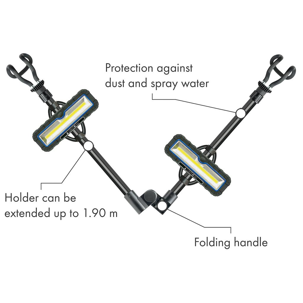 Schwaiger LED Doppel Arbeitsstrahler für Baustelle, Werkstatt