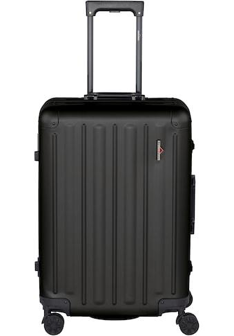Hardware Hartschalen-Trolley »PROFILE PLUS ALU M, black«, 4 Rollen kaufen
