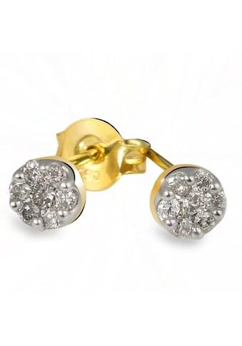 goldmaid Paar Ohrstecker 585/- Gelbgold 14 Brill. 0,26 ct. kaufen