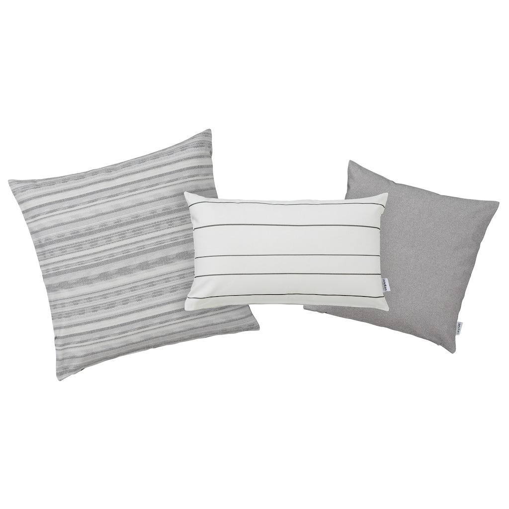 andas Kissenhüllen »Grethe«, (3 St., 50x50 cm-30x50 cm-40x40 cm), drei verschiedener Designs