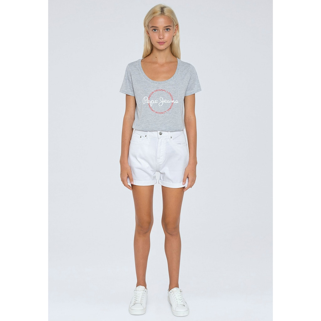 Pepe Jeans Jeansshorts »MARY SHORT«, in enger 5-Pocket-Passform mit seitlichem Schlitz