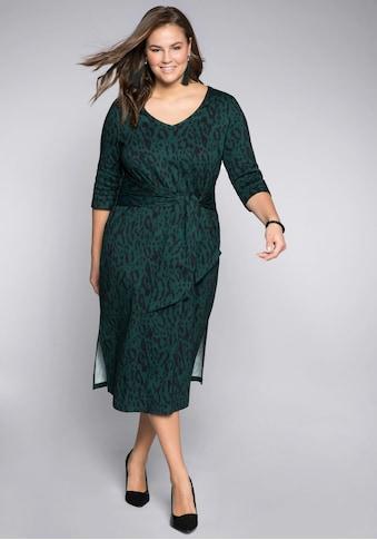 Sheego Shirtkleid, mit dekorativem Bindeband kaufen