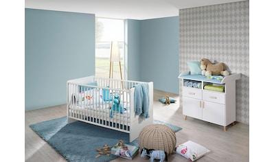 Babymöbel-Set »Potsdam«, (Spar-Set, 2 tlg.), Bett + Wickelkommode kaufen