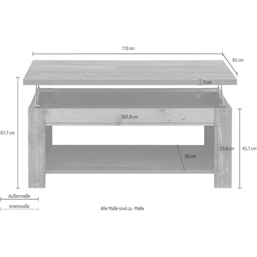 FORTE Couchtisch, mit Funktion, Breite 110 cm