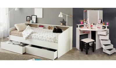 Parisot Jugendzimmer-Set »Sleep«, (Set, 3 tlg.), Stauraumbett, Schminktisch und Hocker kaufen