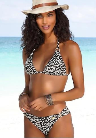 LASCANA Triangel-Bikini-Top »Clara«, mit goldfarbenen Ringen kaufen