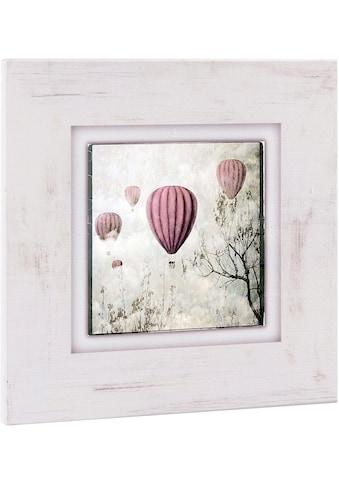 Home affaire Holzbild »Heißluftballons«, 40/40 cm kaufen