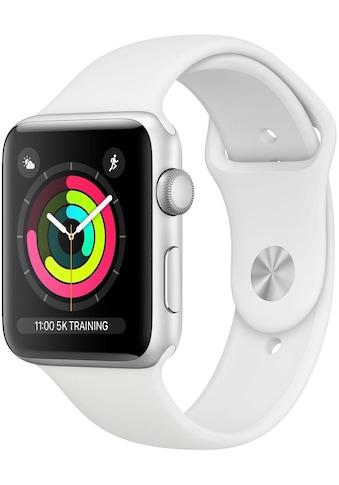 Apple Watch »Series 3 GPS, 42 mm Aluminium-Gehäuse mit Sportarmband«, (Watch OS 5) kaufen