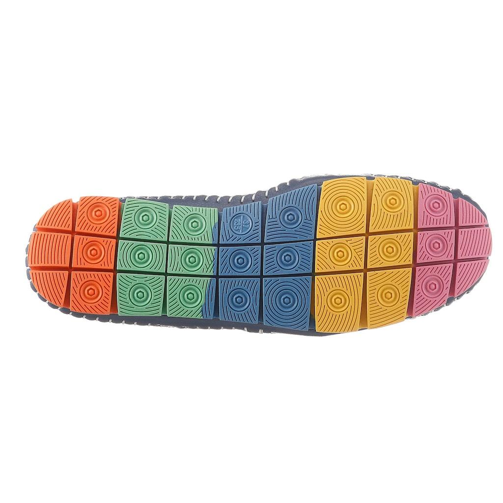 COSMOS Comfort Slipper, mit bunter Laufsohle