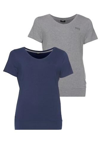 H.I.S T-Shirt »Nachhaltige LENZING™ ECOVERO™ Viskose«, Große Größen kaufen