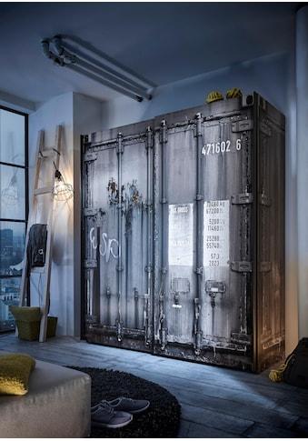 Begabino Schwebetürenschrank, in Container-Optik kaufen