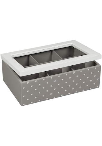 Ambiente Haus Aufbewahrungsbox »Teekästchen - grau 23cm«, (1 St.) kaufen