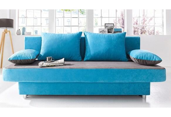 Schlafsofa in Blau