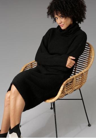 Aniston CASUAL Strickkleid, mit halsfernem Rollkragen - NEUE KOLLEKTION kaufen