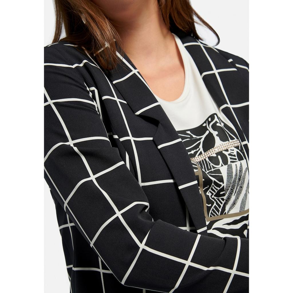 Emilia Lay Jackenblazer »im Oversized-Style«, im Karo-Dessin