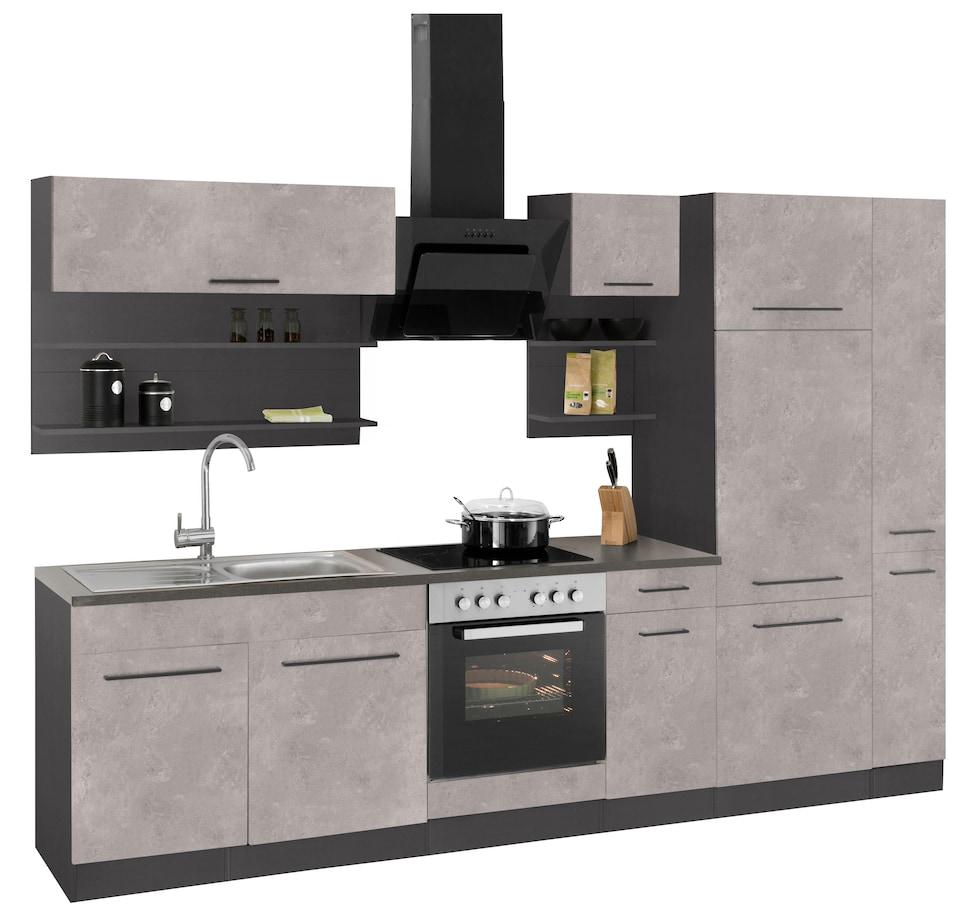 Held Möbel Küchenzeile Ohne E Geräte Tulsa Breite 300 Cm Auf
