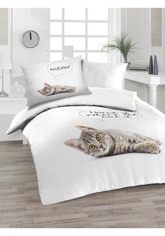 Florella Bettwäsche »Cat, Soft-Renforcé, Digitaldruck« kaufen
