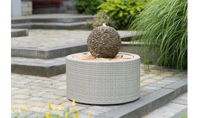 UBBINK Brunnenumrandung »DecoWall Wicker 7«, Ø/H 72,5/38,5 cm, grau kaufen