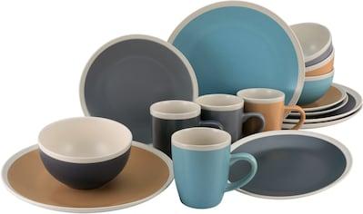 andas Kombiservice »Grimstad«, (Set, 16 tlg.), Glasurtechnik (bicolor und seidenmatt) kaufen
