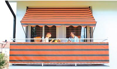 ANGERER FREIZEITMÖBEL Klemmmarkise orange - braun, Ausfall: 150 cm, versch. Breiten kaufen