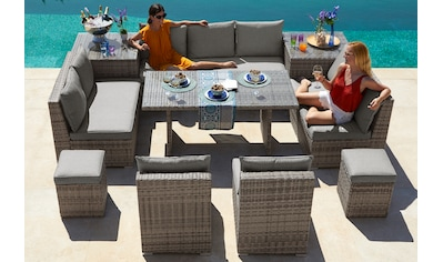 KONIFERA Loungeset »Florida«, (26 St.), 3-er Sofa, 2x 2-er Sofa, 2 Sessel,2 Hocker, 3... kaufen
