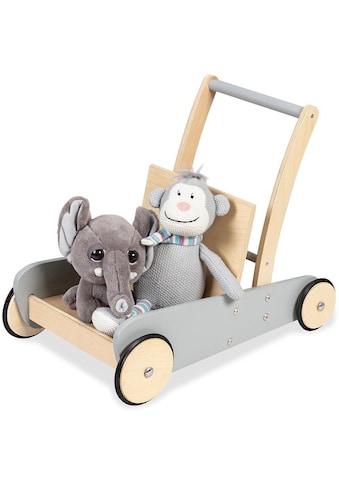 Pinolino® Lauflernwagen »Mats, grau«, aus Holz kaufen
