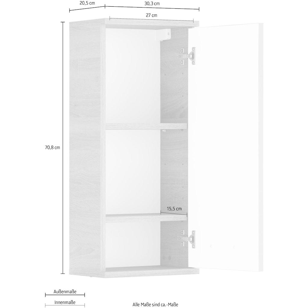 Schildmeyer Hängeschrank »Lagona«, Breite 30,3 cm, wechselbarer Türanschlag, Metallgriffe, verstellbare Einlegeböden