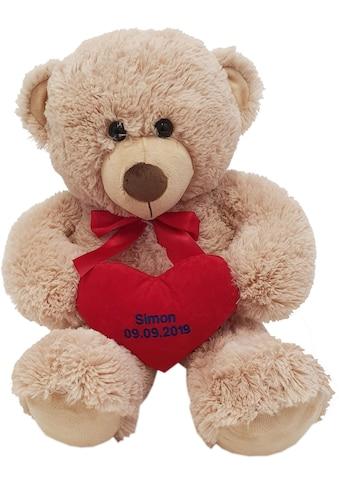 Heunec® Kuscheltier »Bär, 70 cm«, mit individuell bestickbarem Herz kaufen