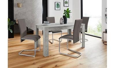 Homexperts Essgruppe »Nick3-Mulan«, (Set, 5 tlg.), mit 4 Stühlen, Tisch in... kaufen