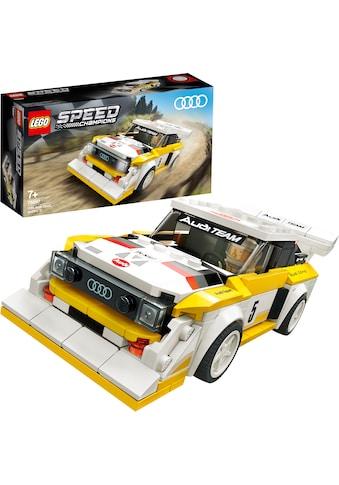 LEGO® Konstruktionsspielsteine »1985 Audi Sport quattro S1 (76897), LEGO® Speed... kaufen