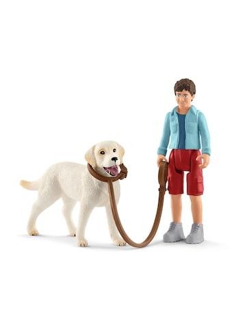 Schleich® Spielfigur »Farm World, Spaziergang mit Labrador Retriever (42478)« kaufen