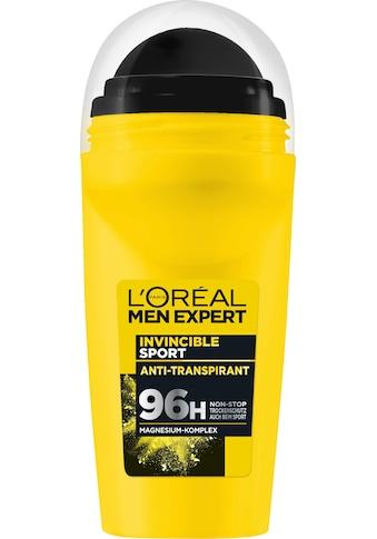 L'ORÉAL PARIS MEN EXPERT Deo-Roller »Invincible Sport Anti-Transpirant«, Zuverlässiger... kaufen