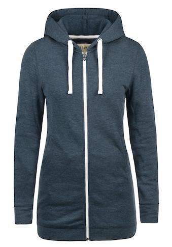 DESIRES Kapuzensweatjacke »Derby Long«, lang geschnittenes Kapuzensweatshirt kaufen