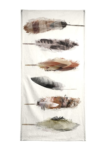 """Handtuch """"Free Fall Feathers"""", Juniqe kaufen"""