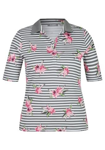 Rabe Polo - Shirt mit Allover - Ringeln und Blumen - Print kaufen